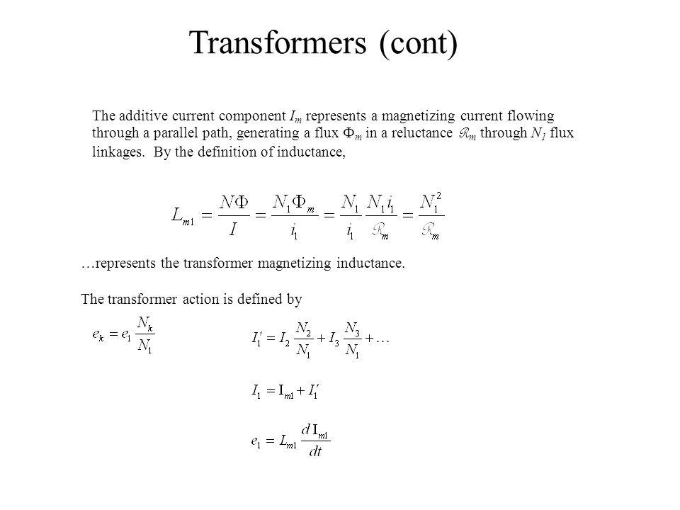 +v2-+v2- Transformer Models +v1-+v1- +v2-+v2- i1i1 i2i2 Ideal Impedance Transformation.