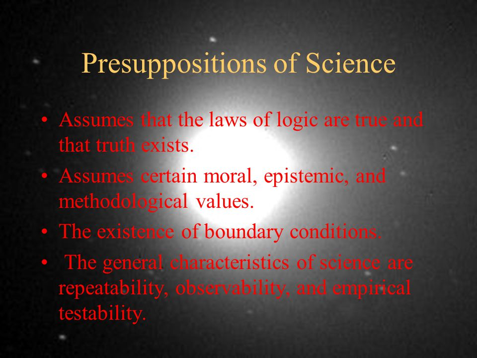 Presuppositions of Science Perception: Perceptual realism or representative dualism.