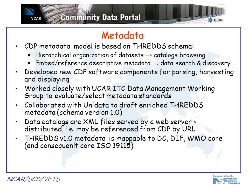 NCAR/SCD/VETS THREDDS catalog example...
