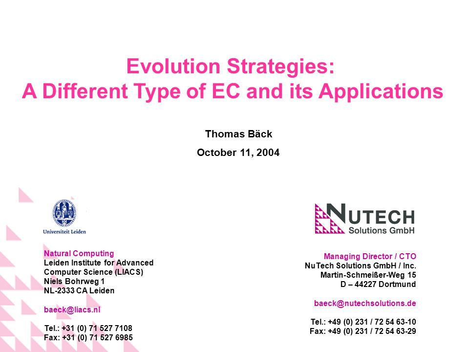 Managing Director / CTO NuTech Solutions GmbH / Inc. Martin-Schmeißer-Weg 15 D – 44227 Dortmund baeck@nutechsolutions.de Tel.: +49 (0) 231 / 72 54 63-