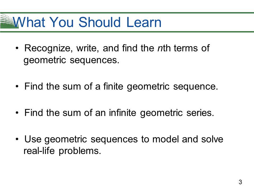 4 Geometric Sequences