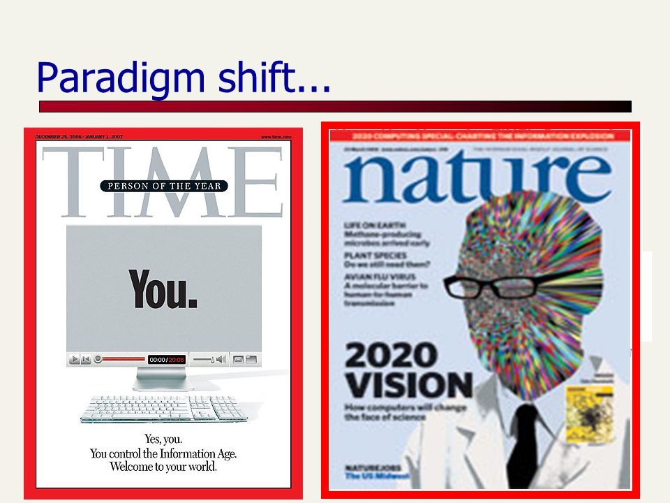 Paradigm shift... Web 2.0 is about the many
