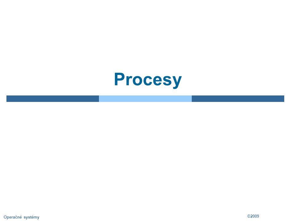 3.2 ©2009 Operačné systémy Process in Memory