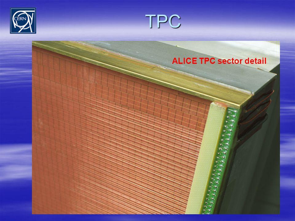 TPC ALICE TPC sector detail