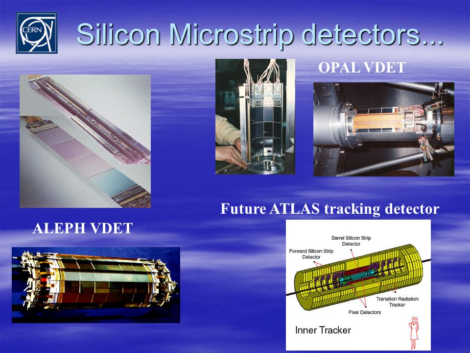 Silicon Microstrip detectors... ALEPH VDET OPAL VDET Future ATLAS tracking detector