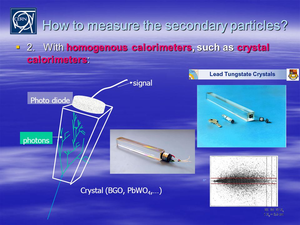 How to measure the secondary particles.  2.