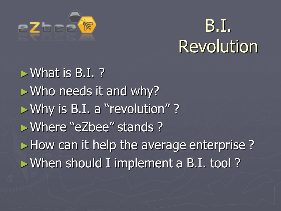 What is B.I.