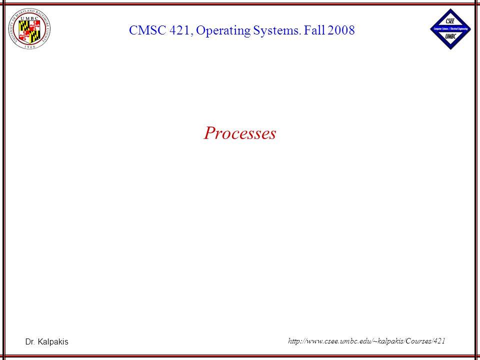 Dr. Kalpakis CMSC 421, Operating Systems.