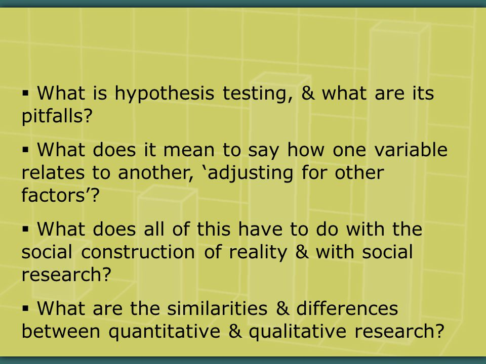  What is hypothesis testing, & what are its pitfalls.