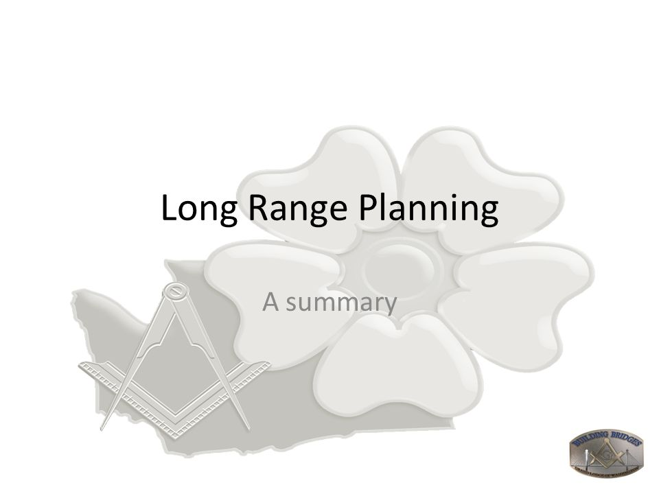 Long Range Planning A summary
