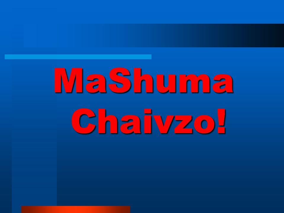MaShuma Chaivzo!