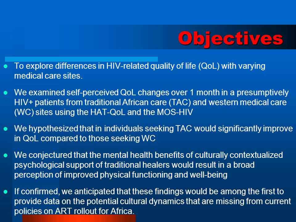 Traditional Healing and HIV Care in rural Zimbabwe Not a substitute for western therapeutics, but an alternative explanatory model for the diagnosis and management of illness Diagnose its socio-etiology, answering the more culturally relevant question: why did this happen to me.