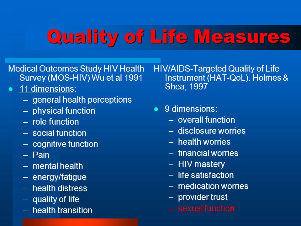 Adaptation of the Instruments The International Quality of Life Assessment Project Translation Procedures were used to adapt the QOL instruments.
