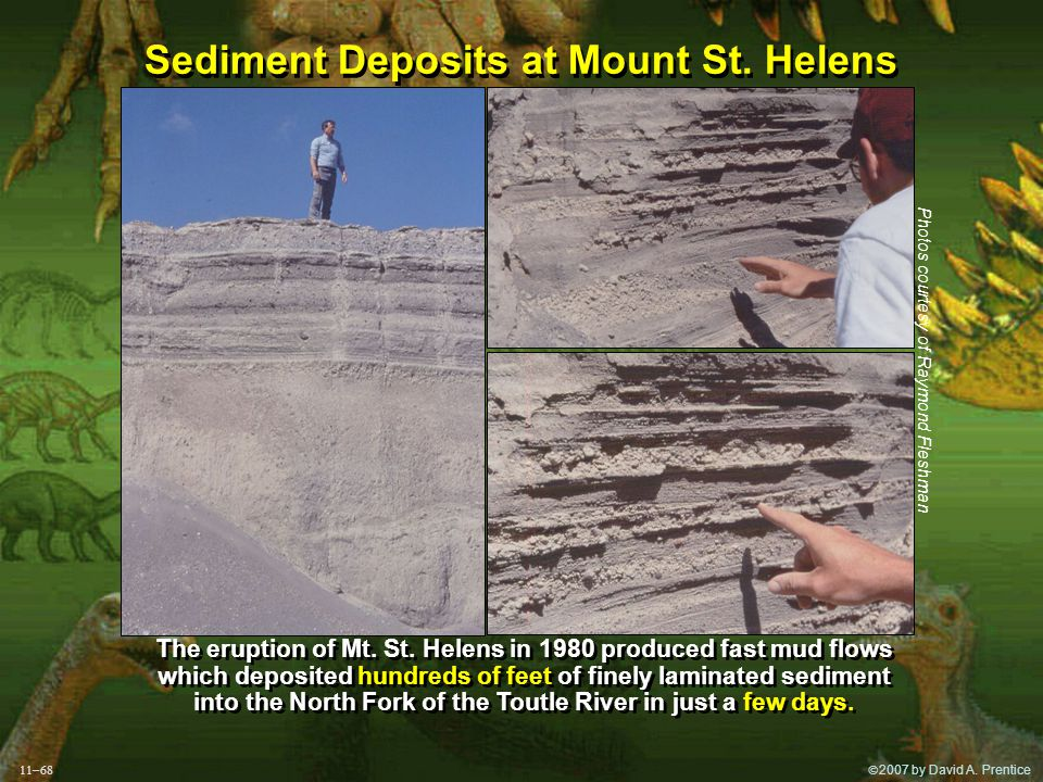  2007 by David A. Prentice Sediment Deposits at Mount St.