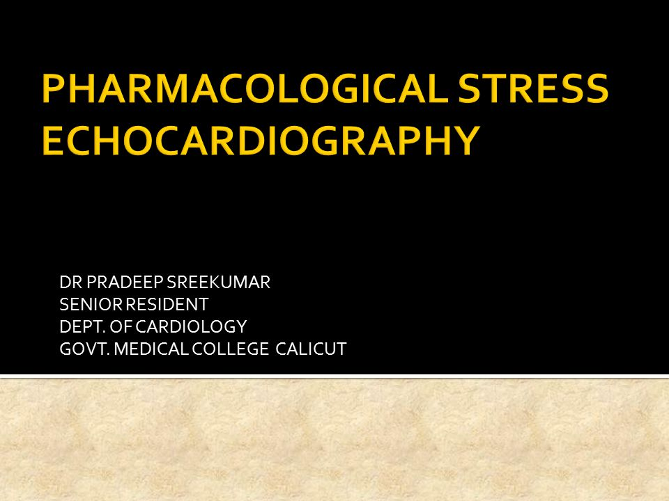  Stress echocardiography was introduced in the early 1980s  Reliable and cost effective method for both the diagnosis and risk stratification of patients with suspected or known CAD.