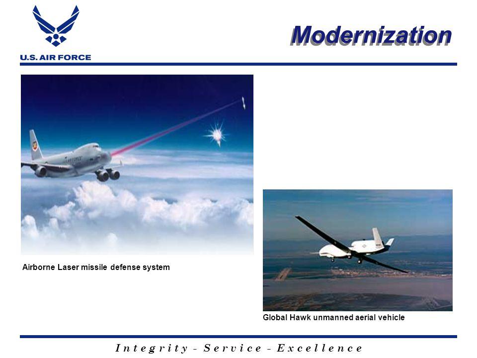 I n t e g r i t y - S e r v i c e - E x c e l l e n c e KC-135 Cockpit KC-10 air refuels B-52 F-15 fires AIM-7 Sparrow air to air missile Modernization