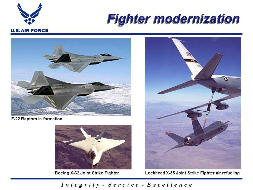 I n t e g r i t y - S e r v i c e - E x c e l l e n c e Modernization Global Hawk unmanned aerial vehicle Airborne Laser missile defense system