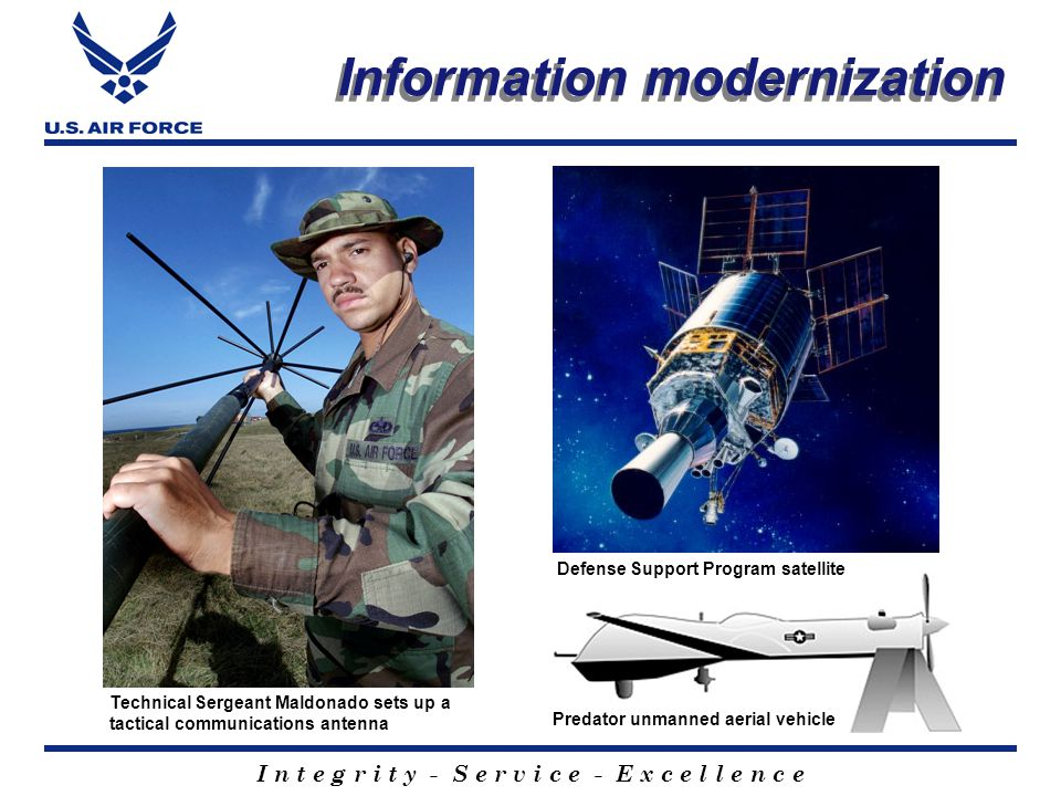 I n t e g r i t y - S e r v i c e - E x c e l l e n c e Space modernization NAVSTAR satellite Evolved Expendable Launch Vehicle conceptsMinuteman III