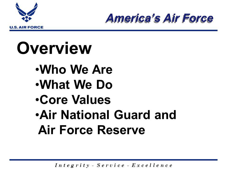 I n t e g r i t y - S e r v i c e - E x c e l l e n c e America's Airmen Tech Sergeant Clark awaits return of KC-135 C-130 refuels Marine CH-53 F-16 Pilot
