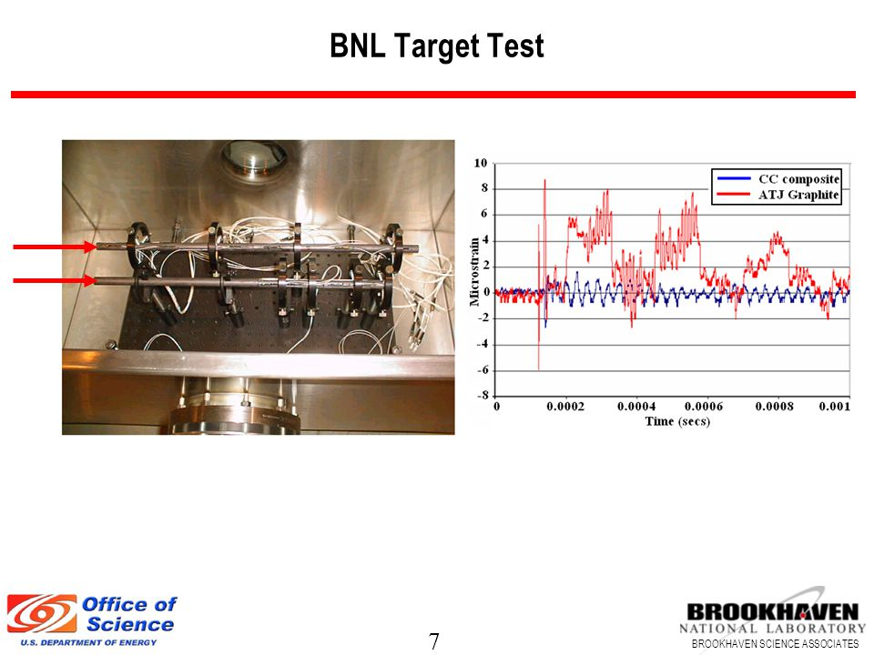 7 BROOKHAVEN SCIENCE ASSOCIATES BNL Target Test