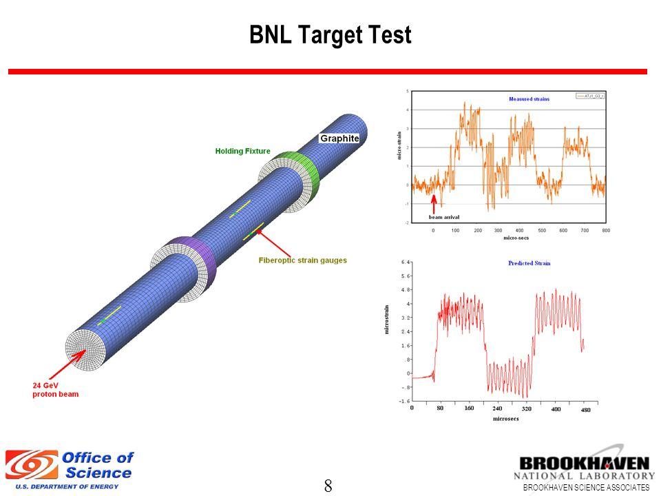 8 BROOKHAVEN SCIENCE ASSOCIATES BNL Target Test