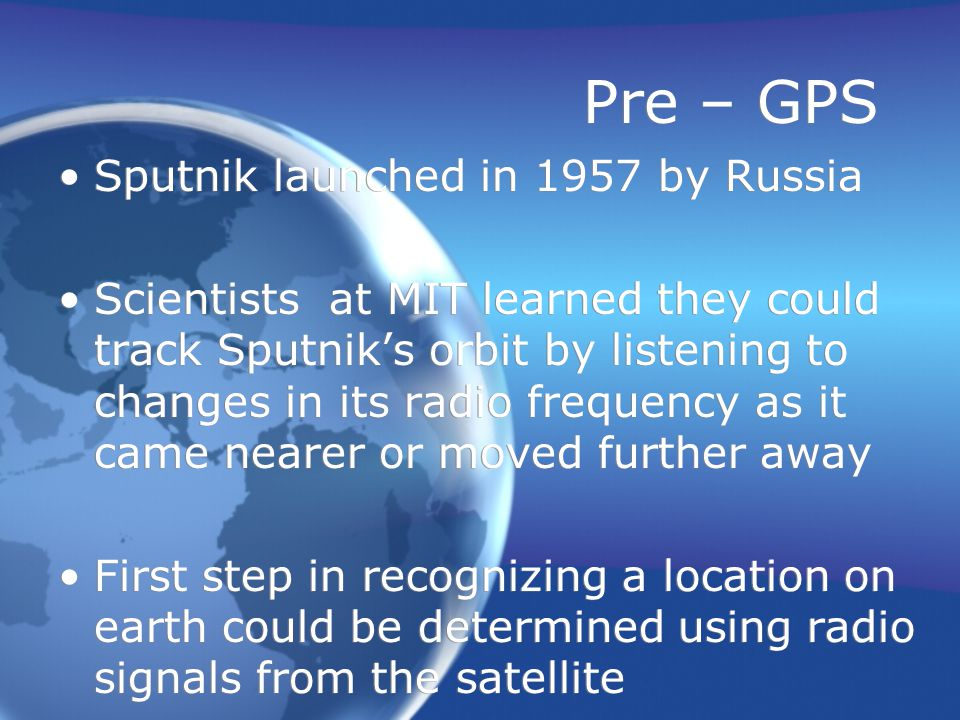 United State's GPS NAVSTAR – the official name of the U.S.