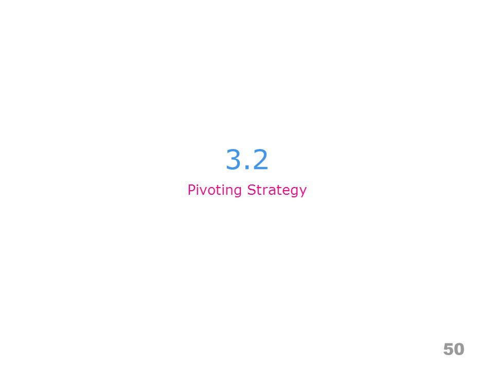 3.2 50 Pivoting Strategy