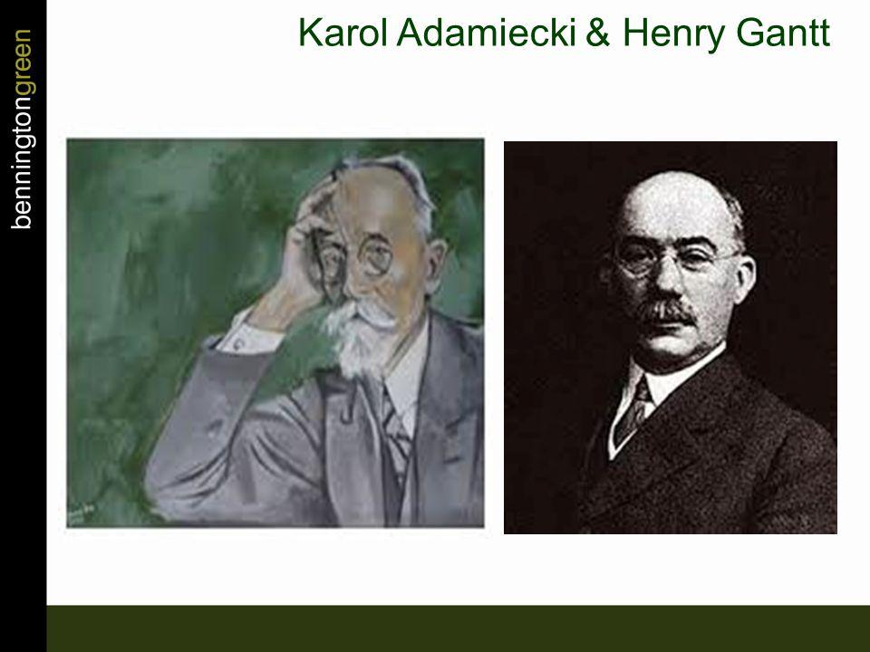 Karol Adamiecki & Henry Gantt