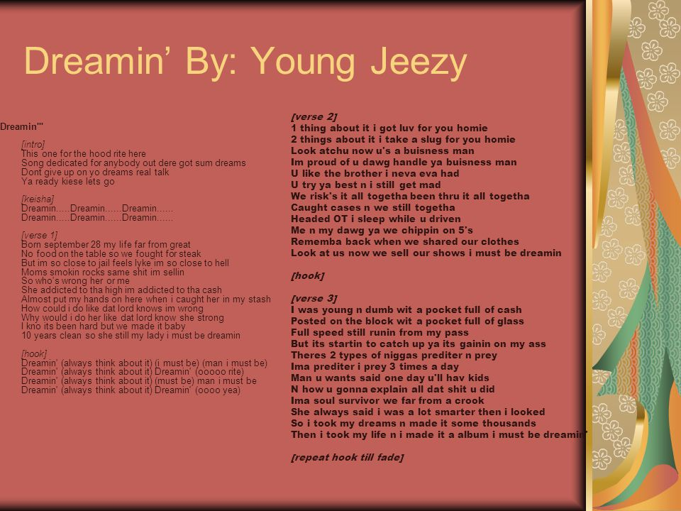 Dreamin' By: Young Jeezy