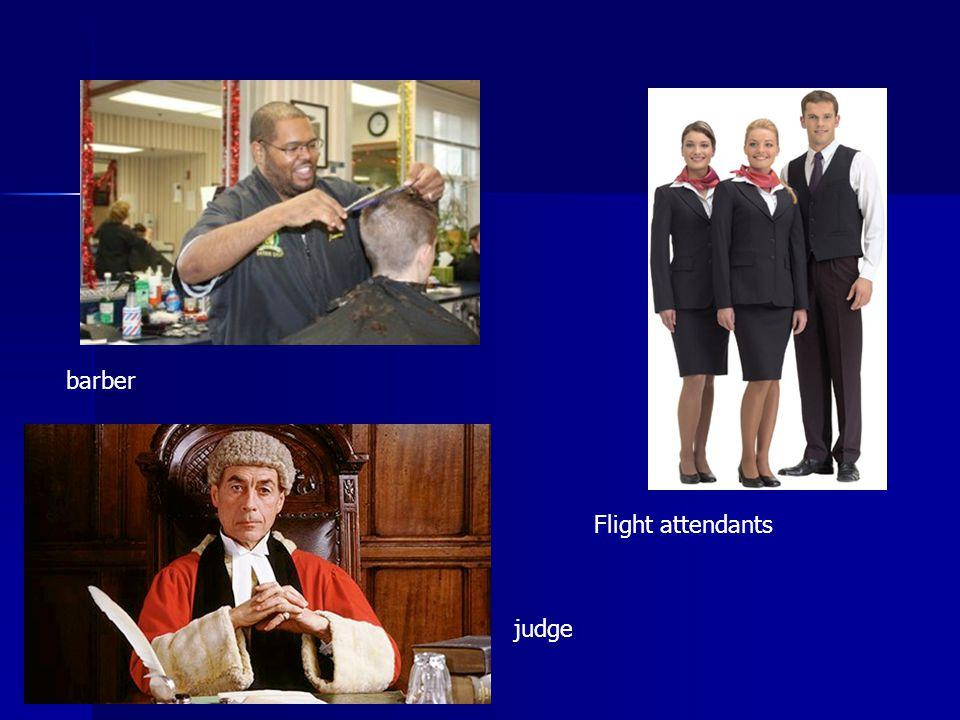 barber Flight attendants judge