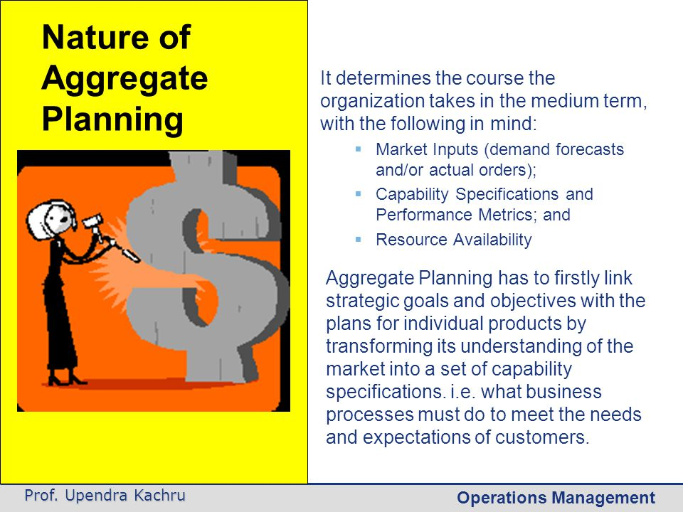 Operations Management Prof. Upendra Kachru The business processes that are involved are as follows: