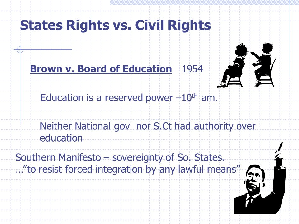 States Rights vs. Civil Rights Brown v.