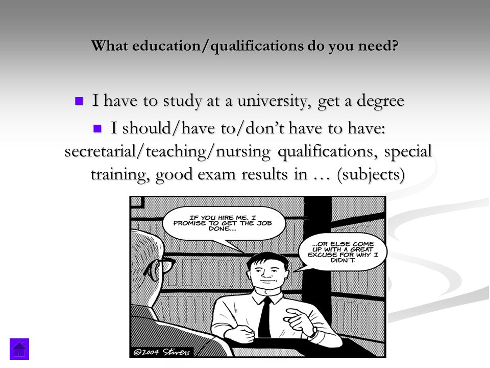 What education/qualifications do you need.