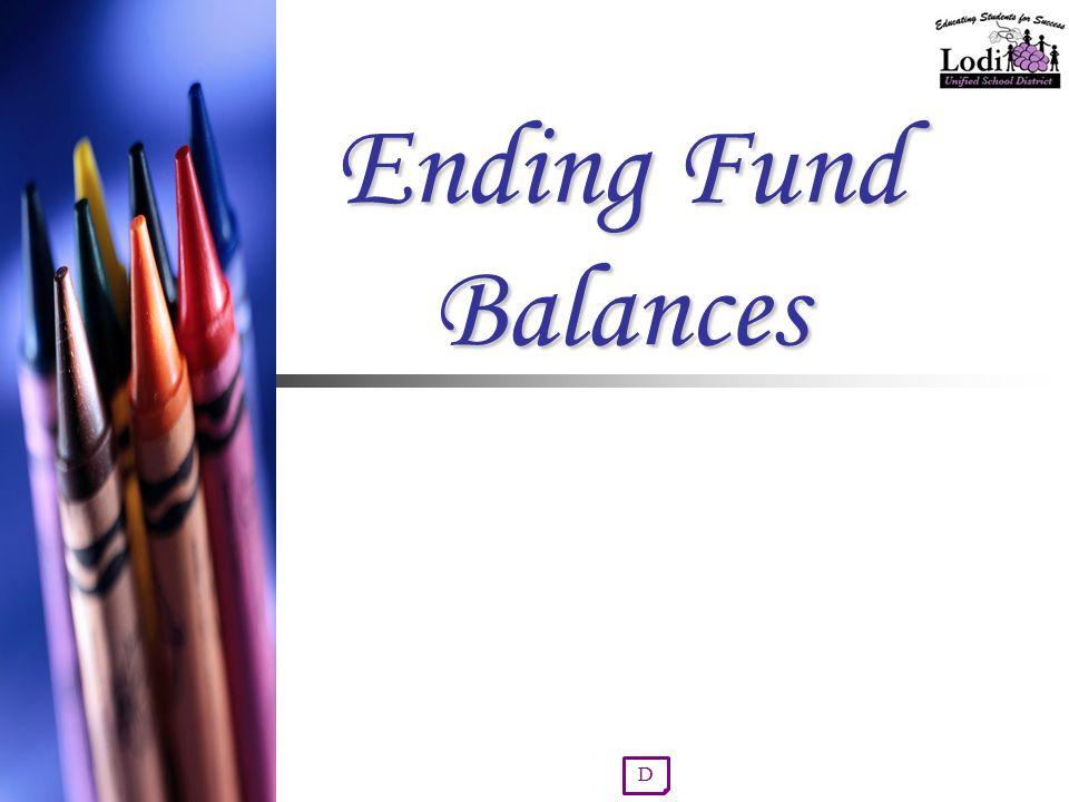Ending Fund Balances D