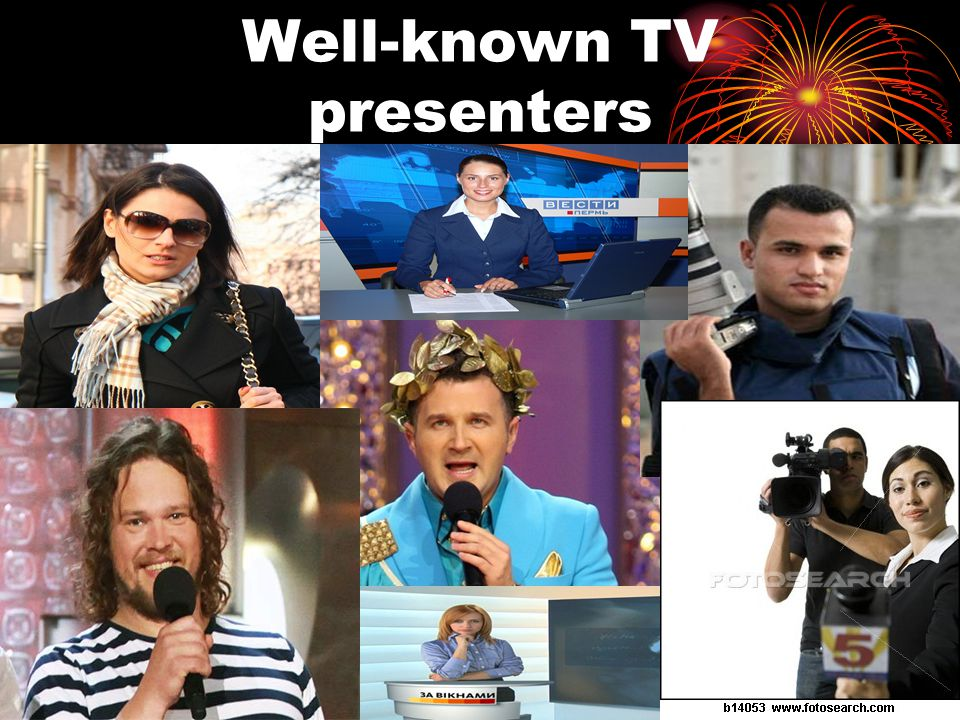 Well-known TV presenters