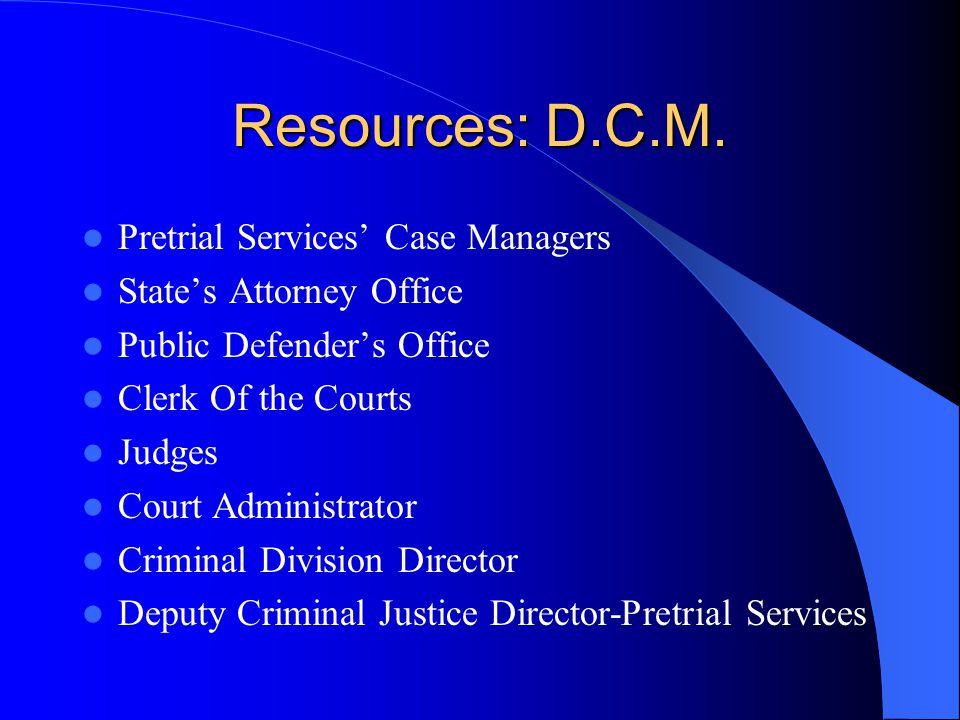 Resources: D.C.M.