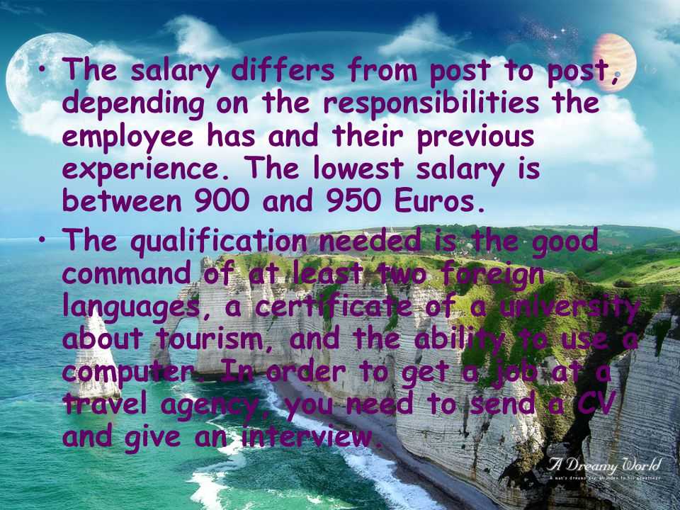 The salary differs from post to post, depending on the responsibilities the employee has and their previous experience.