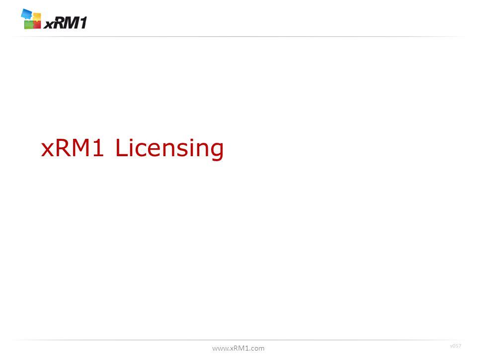 www.xRM1.com xRM1 Licensing v057