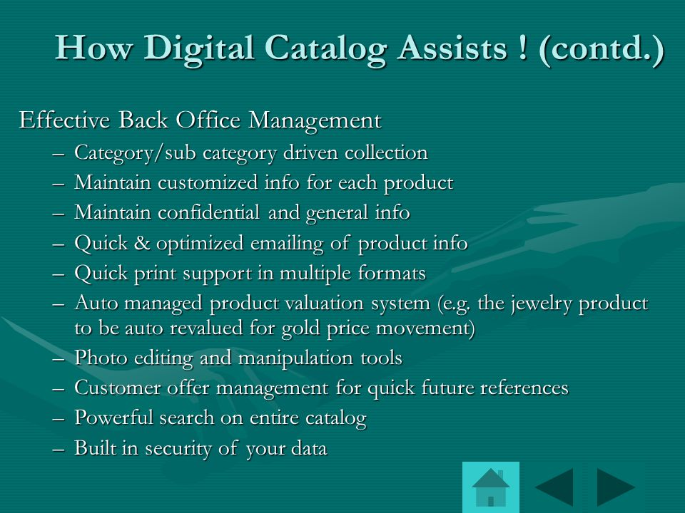How Digital Catalog assists .