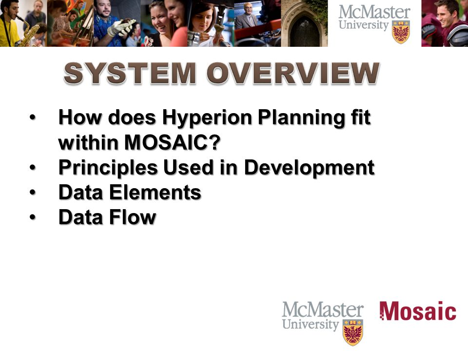 How does Hyperion Planning fit within MOSAIC?How does Hyperion Planning fit within MOSAIC.