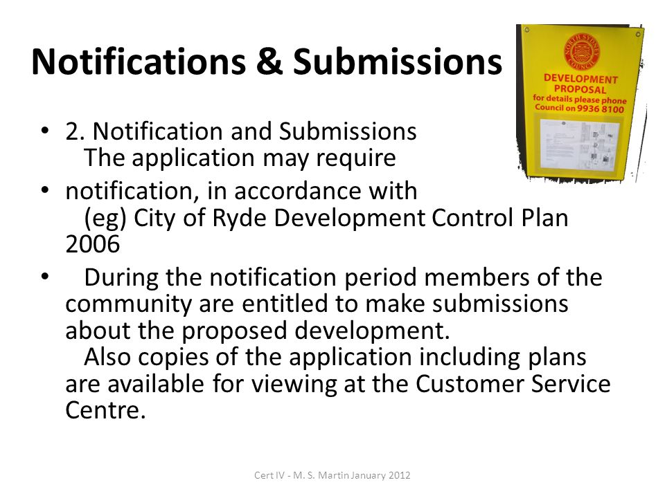 Notifications & Submissions 2.