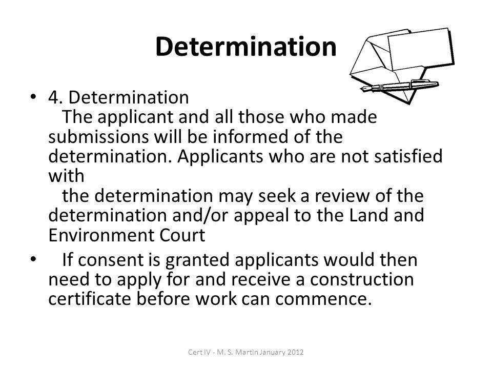 Determination 4.