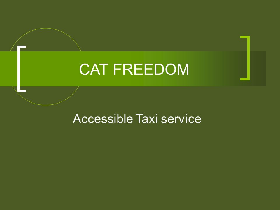 CAT FREEDOM Accessible Taxi service