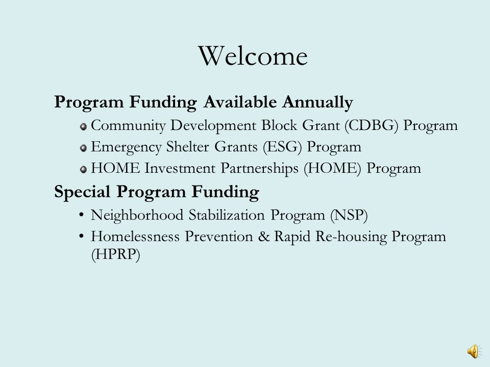 Program Review Other Federal Requirements  Fair Housing and Equal Opportunity  Affirmative Marketing  Handicapped Accessibility – Section 504  Davis-Bacon Labor Standards  Relocation/ Acquisition (URA)  Lead-Based Paint  Environmental  Conflict of Interest  Debarred Contractors  Site & Neighborhood Standards