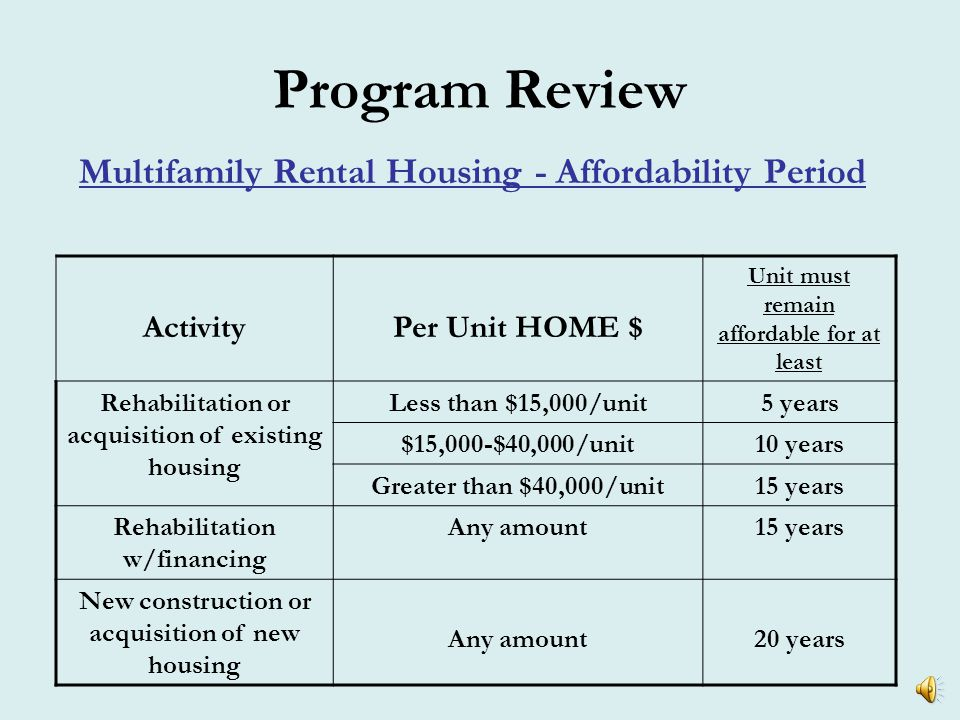 Program Review Multifamily Rental Housing- Rents Don't Forget: utility allowances must be accounted for in your rent structure Where do I get these.