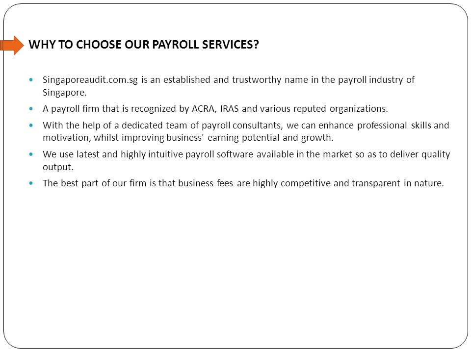 WHY TO CHOOSE OUR PAYROLL SERVICES.