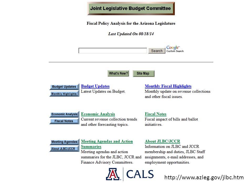 http://www.azleg.gov/jlbc.htm
