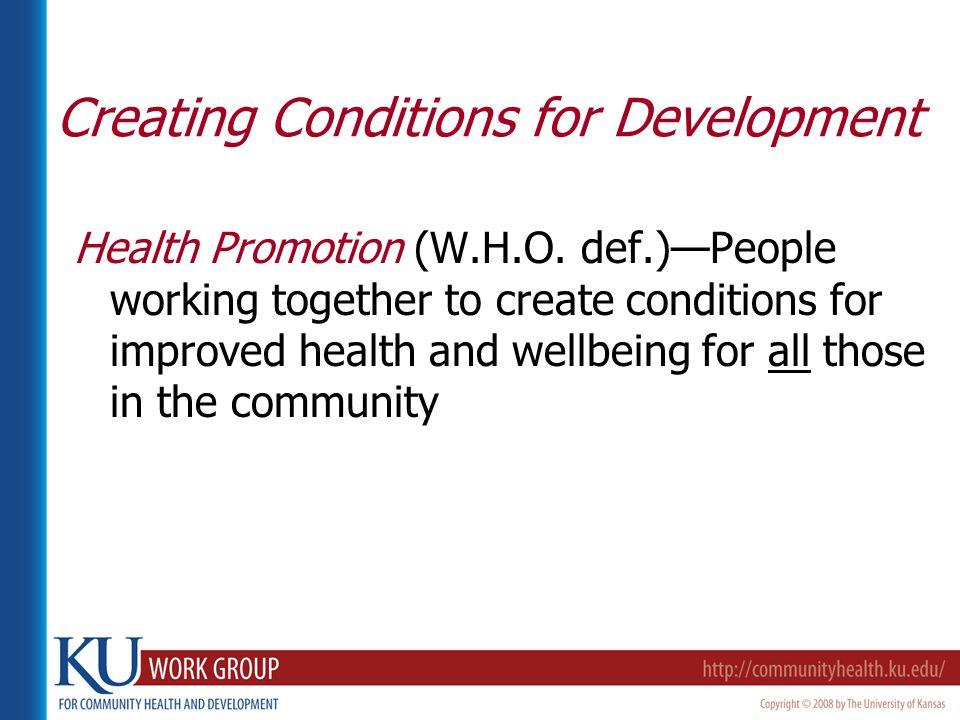 Health Promotion (W.H.O.
