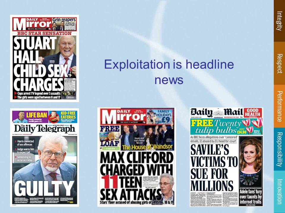 Exploitation is headline news