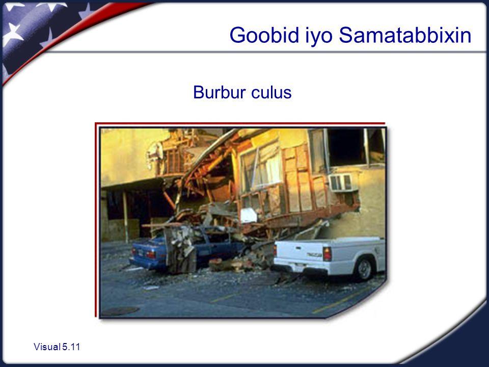 Visual 5.11 Goobid iyo Samatabbixin Burbur culus